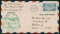 MAYFAIRSTAMPS US FIRST FLIGHT COVER SEALED 1935 SAN FRANCISC
