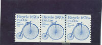 MNH   USA  PLATE NUMBER COILS  ISSUED  1981  BICYCLE    PNC