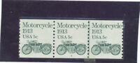 MNH   USA  PLATE NUMBER COILS  ISSUED  1981  MOTORCYCLE    P