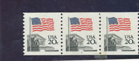 MNH   USA  PLATE NUMBER COILS  ISSUED  1981  FLAG        PNC