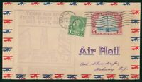 MAYFAIRSTAMPS US FIRST FLIGHT COVER 1937 FEEDER SURVEY TEXAS