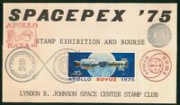 MAYFAIRSTAMPS US SPACE 1975 SPACEPEX APOLLO STAMP EXHIBITION
