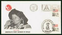 MAYFAIRSTAMPS US SPACE 1983 SALLY RIDE FIRST AMERICAN WOMAN