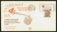 MAYFAIRSTAMPS US SPACE 1968 INTELSAT 3A KENNEDY CENTER SPACE