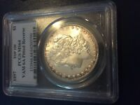 1897 MORGAN SILVER DOLLAR  PCGS MINT STATE 64  VAM-6A  PITTED REVERSE  TOP-100  4281