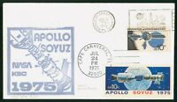 MAYFAIRSTAMPS US SPACE 1975 NASA CACHET DOUBLE CANCEL CAPE C
