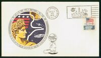 MAYFAIRSTAMPS US SPACE 1972 APOLLO 17 KENNEDY CENTER COVER W