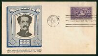 MAYFAIRSTAMPS US FDC 1939 ABNER DOUBLEDAY BASEBALL FIRST DAY