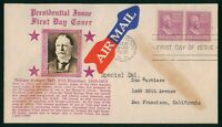 MAYFAIRSTAMPS US FDC SEALED 1938 PAIR WILLIAM TAFT CROSBY FI