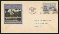 MAYFAIRSTAMPS US FDC UNSEALED 1937 WEST POINT MILITARY ACADE
