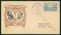 MAYFAIRSTAMPS US FDC UNSEALED 1937 JACKSON & LEE ARMY OFFICE