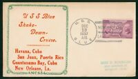 MAYFAIRSTAMPS NAVAL COVER 1937 SHAKE DOWN CRUISE NEW ORLEANS