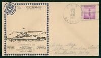 MAYFAIRSTAMPS NAVAL COVER 1941 DESTROYER 394 LAUNCHED USS SA