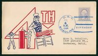 MAYFAIRSTAMPS NAVAL COVER 1934 4TH OF JULY USS BOBOLINK 1934