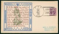 MAYFAIRSTAMPS NAVAL COVER 1937 ANNAPOLIS MARYLAND USS BLUE 1