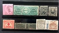 US STAMPS NICE LOT OF LOCAL STAMPS & MATCH & MEDICINE STAMPS