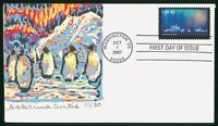 MAYFAIRSTAMPS US FDC 2007 ANTARCTICA PENGUINS HANND COLORED
