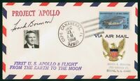 MAYFAIRSTAMPS US SPACE 1968 PROJECT APOLLO 8 FRANK BORMAN SI