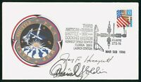 MAYFAIRSTAMPS US SPACE 1996 ATLANTIS STS 76 AUTOGRAPHED COVE