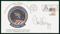 MAYFAIRSTAMPS US SPACE 1985 GREGORY AUTOGRAPHED CHALLENGER M