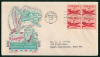 MAYFAIRSTAMPS FIRST DAY COVER US FDC 1947 BLOCK SMALL SIZE A