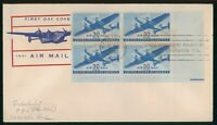MAYFAIRSTAMPS US FDC SEALED 1941 30 CENTS AIR MAIL BLOCK PLA
