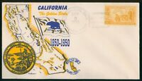 MAYFAIRSTAMPS US FDC SEALED 1950 CALIFORNIA CENTENNIAL FIRST