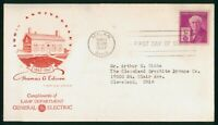 MAYFAIRSTAMPS FIRST DAY COVER US FDC 1947 THOMAS EDISON COMP