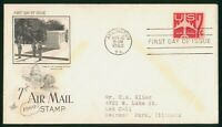 MAYFAIRSTAMPS US FDC VIRGINIA 7 CENT AIR MAIL ART CRAFT 1960