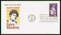 MAYFAIRSTAMPS US FDC CONNECTICUT EDITH WHARTON POET 1980 FIR