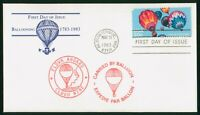 MAYFAIRSTAMPS FIRST DAY COVER US FDC 1983 BALLOONING 1783 19