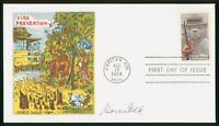 MAYFAIRSTAMPS US FDC SEALED 1984 FIRE PREVENTION DORIS GOLD