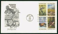MAYFAIRSTAMPS FIRST DAY COVER US FDC 1981 BLOCK WILDLIFE PRE