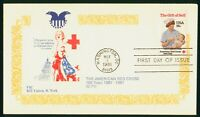 MAYFAIRSTAMPS US FDC UNSEALED 1981 AMERICAN RED CROSS FSC FI