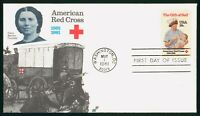 MAYFAIRSTAMPS US FDC UNSEALED 1981 AMERICAN RED CROSS CLARA