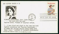 MAYFAIRSTAMPS US FDC UNSEALED 1981 RED CROSS FLORENCE NIGHTI