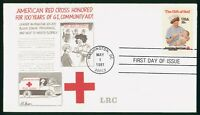MAYFAIRSTAMPS US FDC UNSEALED 1981 AMERICAN RED CROSS LRC FI