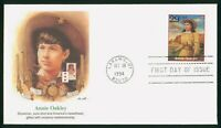 MAYFAIRSTAMPS US FDC UNSEALED 1994 ANNIE OAKLEY FLEETWOOD FI