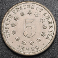 1883 SHIELD 5C  NICKEL  ABOUT UNCIRCULATED