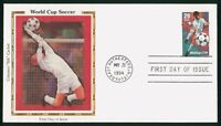MAYFAIRSTAMPS US FDC UNSEALED 1994 WORLD CUP SOCCER COLORANO
