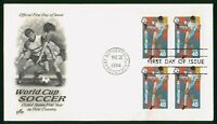 MAYFAIRSTAMPS US FDC NEW JERSEY BLOCK WORLD CUP SOCCER ART C