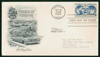 MAYFAIRSTAMPS ARTMASTER FIRST DAY COVER US FDC 1960 WHEELS O