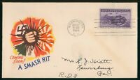 MAYFAIRSTAMPS US FDC SEALED 1944 CORREGIDOR WJM FIRST DAY CO