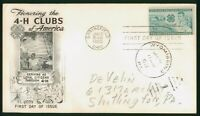 MAYFAIRSTAMPS US FDC 1952 4H CLUBS FIRST DAY COVER WWP_64393