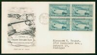 MAYFAIRSTAMPS US FDC 1952 GRAND COULEE DAM BLOCK ARTMASTER F