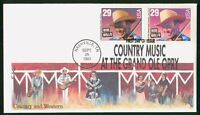 MAYFAIRSTAMPS US FDC 1993 COUNTRY MUSIC BOB WILLS BLOCK FIRS