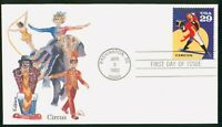 MAYFAIRSTAMPS US FDC 1993 CIRCUS RING MASTER FIRST DAY COVER