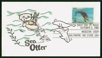 MAYFAIRSTAMPS US FDC 1990 SEA OTTER FIRST DAY COVER WWP_6520