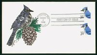 MAYFAIRSTAMPS US FDC 1996 BLUE JAY HAND PAINTED FIRST DAY CO