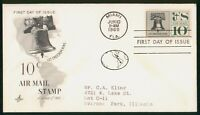 MAYFAIRSTAMPS US FDC 1960 AIR MAIL 10C LIBERTY BELL FIRST DA